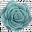 Cozy Day - Teal Felt Flower