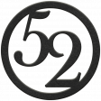 Toolbox Numbers - Black Circle Number 52
