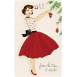 Memories and Traditions - Ephemera Card Lady and Ornament