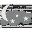 Winter Fun - Moon Stars Doodle