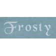 Winter Day - Frosty Word Art