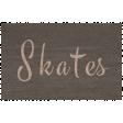 Winter Day - Skates Word Art