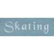 Winter Day - Skating Word Art