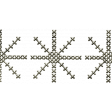 Winter Day - Snowflake Border Doodle