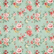 Spring Day - Light Green Floral Paper