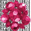 Raindrops & Rainbows - Pink Beaded Cluster