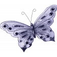 Raindrops & Rainbows - Purple Butterfly