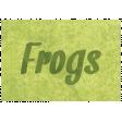 Raindrops & Rainbows - Frog Word Art