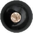 Raindrops & Rainbows - Black Diamond Button