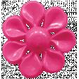 Raindrops & Rainbows - Pink Button 06
