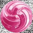Raindrops & Rainbows - Pink Button 09