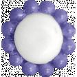 Raindrops & Rainbows - Purple Button 06