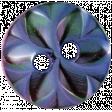 Raindrops & Rainbows - Purple Button 08