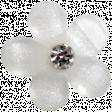 Slice of Summer - White Flower Button