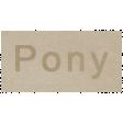 At the Zoo - Pony Word Art