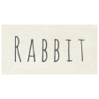 At the Zoo - Rabbit Word Art