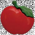 Apple Crisp - Red Apple Button 01