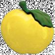 Apple Crisp - Yellow Apple Button 01
