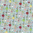 Apple Crisp - Blue Doodle Paper
