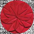 Apple Crisp - Red Paper Flower Brad Disk