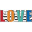 Toolbox Styles Enamel & Metal - Love Word Art