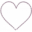 New day - Shadowed Purple Heart Stitch