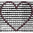 New day - Shadowed Purple Heart Stitch