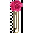 All the Princesses - Flower Doodle Clip 05