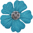 All the Princesses - Teal Flower 02