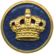 All the Princesses - Crown Button