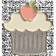 Apple Crisp - Enamel Cupcake Charm 01