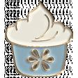 Apple Crisp - Enamel Cupcake Charm 02