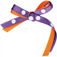 Chills & Thrills Purple and Orange Bow
