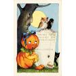 Chills & Thrills Vintage Pumpkin Post Card