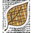 Chills & Thrills - Plaid Leaf Doodle