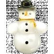 The Nutcracker - Snowman Button
