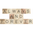 Rustic Charm - Always and Forever Word Art