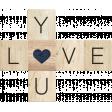 Rustic Charm - Love You Word Art