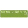 Look, A Book! - This Book Belongs To Word Art
