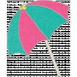Summer Splash - Pink & Teal Umbrella