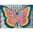 Summer Splash - Muti-colored Butterfly