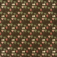 Strawberry Fields - Brown Strawberry Doodle Paper