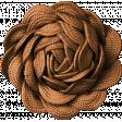 Autumn Day - Dark Brown Flower