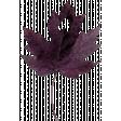Thankful Heart - Purple Leaf