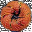 Let's Get Festive - Dark Orange Button 2