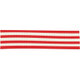 Let's Get Festive - Red and White Striped Ribbon