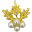 Let's Get Festive - Gold and Pearl Brooch