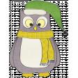 Let's Get Festive - Gray Owl Doodle 2