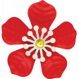 Let's Get Festive - Red and White Flower