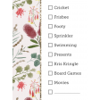 Watercolour Australian Flora Christmas Checklist 3x4 Pocket Card